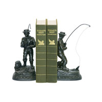 Sterling Industries Pair Fish On Line Bookend Decorative Accessory 93-3329 photo thumbnail