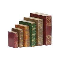 Sterling Industries Set of 6 Tooled Books Statue 93-4023