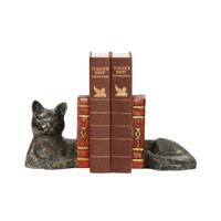Sterling Industries Pair Cat Napping Bookends Decorative Accessory 93-5083