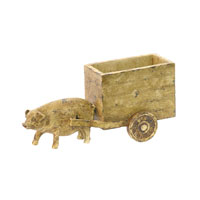 Sterling Industries Pig Cart Statue 93-6070