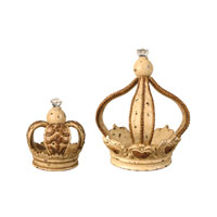 Sterling Industries Set of 2 MonarchS Crowns Statue 93-6498