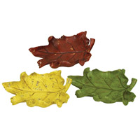 Sterling Industries Set of 3 Autumn Leaf Dishes Decorative Accessory 93-6701