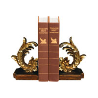 Sterling Industries Pair Cresting Leaf Bookends Decorative Accessory 93-6813 photo thumbnail