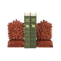 Sterling Industries Pair Red Floral Bookends Decorative Accessory 93-8505