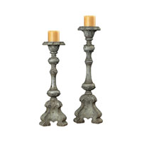 Sterling Industries Florintine Carved Candle Sticks Decorative Accessory in Alston Grey 93-9145