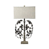 Sterling Industries Montuak Grey Metal Floral Work Table Lamp in Montauk Grey 93-9155