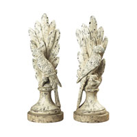 Sterling Industries Pair Of Distressed White Parrots Decorative Accessory in Marauder White 93-9176