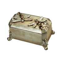 Sterling Industries Dragonfly Box Decorative Accessory in Silver Leaf 93-9205