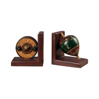 Sterling Industries AntqiUe Fishing Reel / Fishing Float Book Ends Decorative Accessory 93-9207