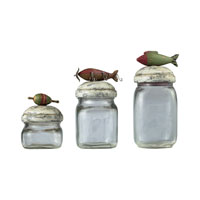 Sterling Industries Fly Fishin Lure Storage Jars Decorative Accessory 93-9209 photo thumbnail