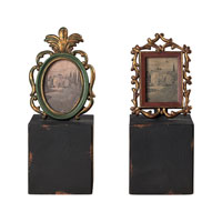 Sterling Industries Set Of 2 Tuscan Book Ends -Sm Decorative Accessory in Tuscan Gold With Black 93-9215