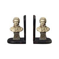 Sterling Industries Mozart Book Ends Decorative Accessory in French Cream And Bryer Gold 93-9223