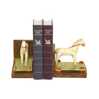 Sterling Industries Pair Childs Pony Bookends Decorative Accessory 93-9234 photo thumbnail