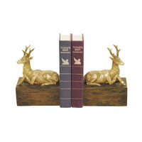 Sterling Industries Pair Resting Stag Bookends Decorative Accessory 93-9266 photo thumbnail