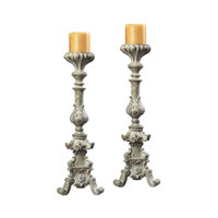 Sterling Industries Stone Finish Candle Holders Decorative Accessory in Grendon Stone 93-9279