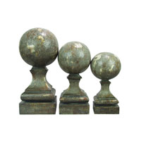 Sterling Industries Set of 3 Sphere Pediment Finials Decorative Accessory 93-9814