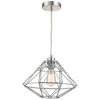 Paradigm 1 Light 13 inch Chrome Pendant Ceiling Light