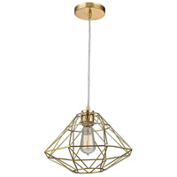 Paradigm 1 Light 13 inch Gold Pendant Ceiling Light