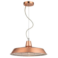 Ajax 1 Light 16 inch Copper Pendant Ceiling Light