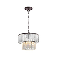 Antoinette 1 Light 12 inch Bronze & Clear Pendant Ceiling Light