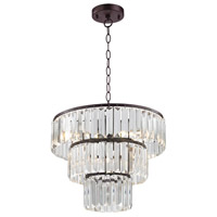 Antoinette 4 Light 15 inch Bronze & Clear Pendant Ceiling Light