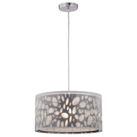Gala 1 Light 16 inch Black and White Pendant Ceiling Light