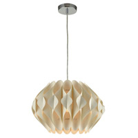 Kirigami 1 Light 16 inch Off-White Pendant Ceiling Light