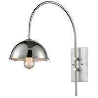 Sterling D3609 Chromosphere 1 Light 8 inch Polished Nickel And White Marble Wall Sconce Wall Light