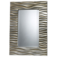 Transcend 28 X 19 inch Silver Leaf with Black Antique Mirror Home Decor