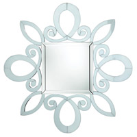 Sterling DM1986 Phoenix Park 49 X 49 inch White Wall Mirror