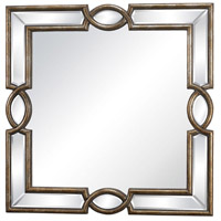 Syracuse 32 X 32 inch Antique Gold Mirror Home Decor, Trump Home