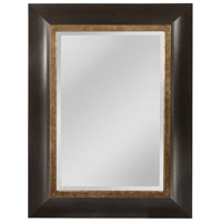 Lyddington 49 X 36 inch Black and Silver with Gold Wall Mirror Home Decor