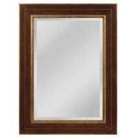 Sterling MW4053A-0036 Darcey 46 X 34 inch Walnut and Roman Gold Wall Mirror