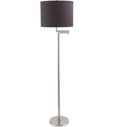 Surya FNLP-002 Finn 60 inch 100 watt Brushed Nickel Floor Lamp Portable Light photo