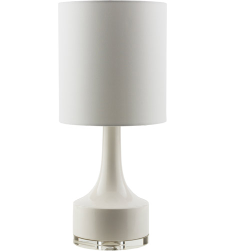 Surya FRR356-TBL Farris 25 inch 100 watt White Table Lamp Portable Light photo