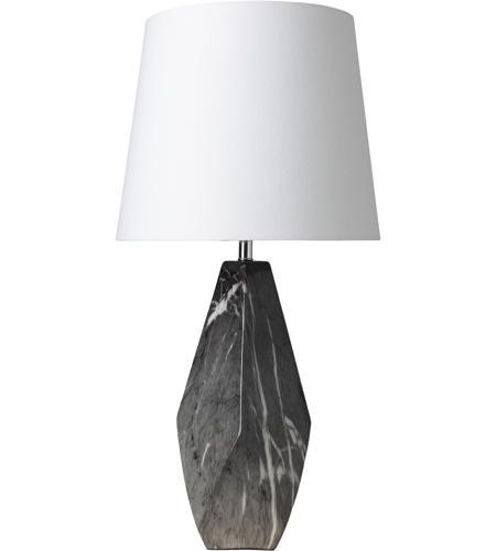 Surya HEL 100 Henley 25 Inch 100 Watt Marbled Table Lamp Portable Light  Photo