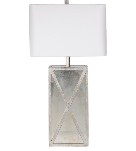 Surya JXLP-001 Jaxon 27 inch 100 watt Antiqued Mirror Table Lamp Portable Light photo thumbnail