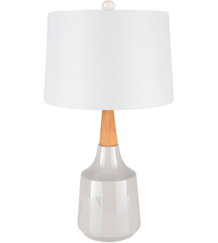 Surya White Wood Table Lamps