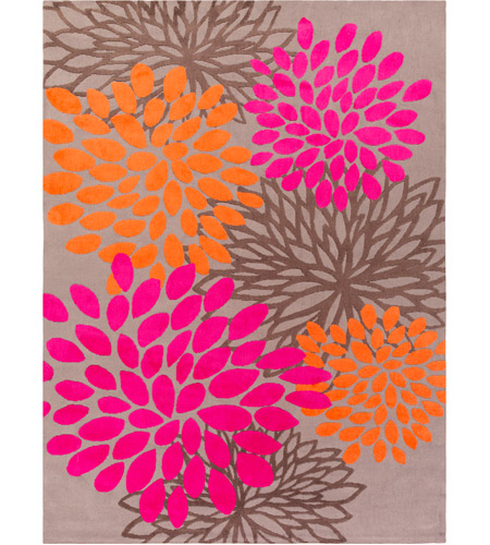 Surya Abi9070 811 Abigail 132 X 96 Inch Pink And Orange Area Rug