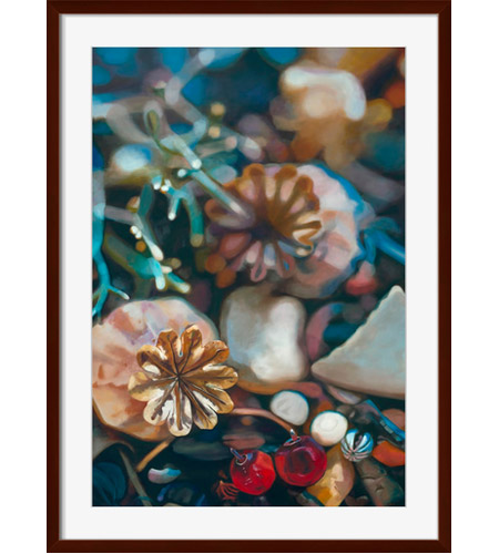 Surya AL107A001-1721 Fallen I Wall Art, Rectangle, Eternal photo