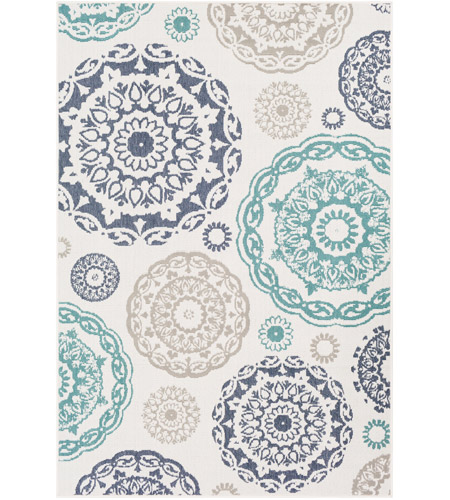 Surya ALF9665-2346 Alfresco 54 X 27 inch Teal Outdoor Area Rug, Rectangle photo