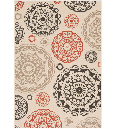 Surya ALF9667-5376 Alfresco 90 X 63 inch Cream Outdoor Area Rug, Rectangle photo