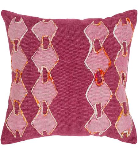 Surya Ata001 2020p Panta 20 X Inch Fuschia And Pale Pink Throw Pillow Photo