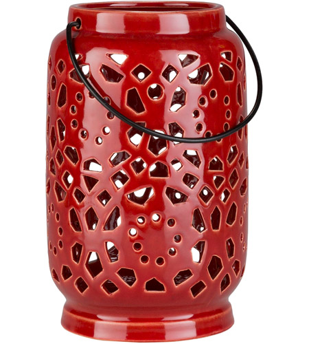 Surya AVR927-M Avery 9 X 6 inch Orange Outdoor Decorative Lantern photo