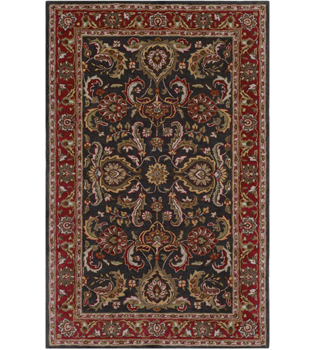 Surya AWHY2061-58 Middleton 96 X 60 inch Bright Red/Charcoal/Mustard/Dark Brown/Olive/Tan Rugs, Rectangle photo