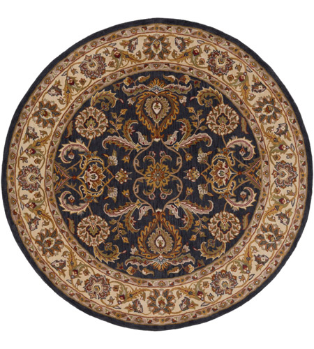 Surya AWHY2063-8RD Middleton 96 X 96 inch Denim/Tan/Khaki/Olive/Dark Red/Camel Rugs, Round photo
