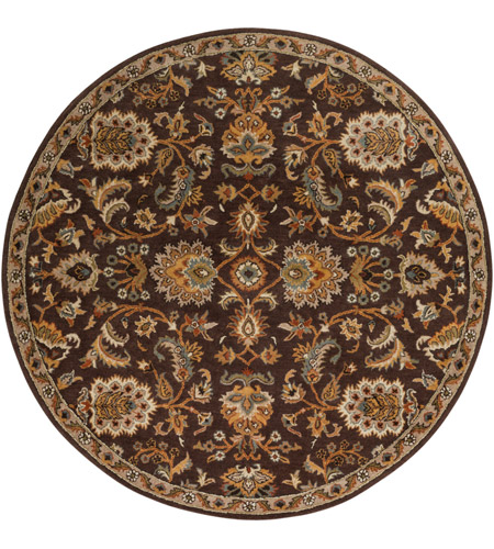 Surya AWMD1002-8RD Middleton 96 X 96 inch Dark Brown/Camel/Ivory/Olive/Teal/Mustard Rugs, Round photo