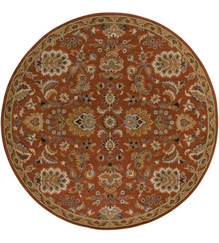 Surya AWMD1003-8RD Middleton 96 X 96 inch Rust Indoor Area Rug, Round photo