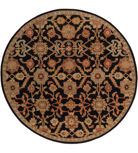 Surya AWMD2073-8RD Middleton 96 X 96 inch Black/Rust/Olive/Camel/Tan/Sage Rugs, Round photo