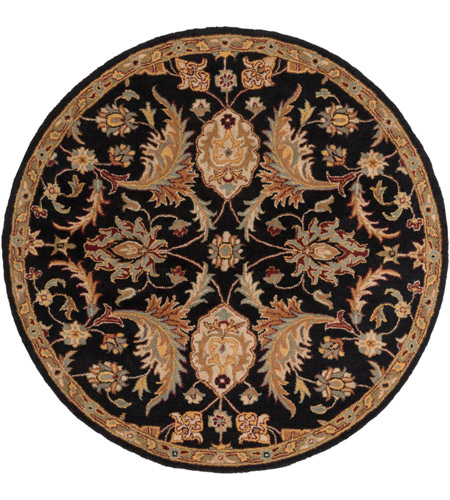 Surya AWMD2078-6RD Middleton 72 X 72 inch Black/Camel/Khaki/Medium Gray/Olive/Burgundy Rugs, Round photo